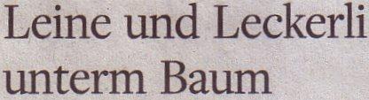 Welt am Sonntag, 21.11.2010, Titel: Leine und Leckerli unterm Baum