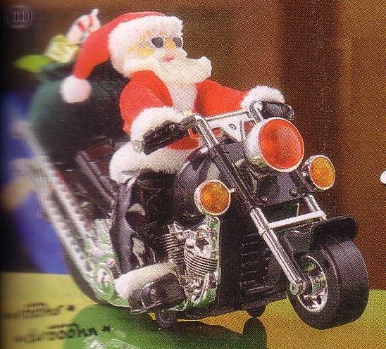Weihnachtsmann auf Motorrad von Pearl