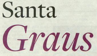 Welt am Sonntag, 28.11.10, Titel: Santa Graus