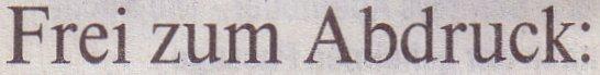 Die Welt, 11.11.10, Titel: Frei zum Abdruck