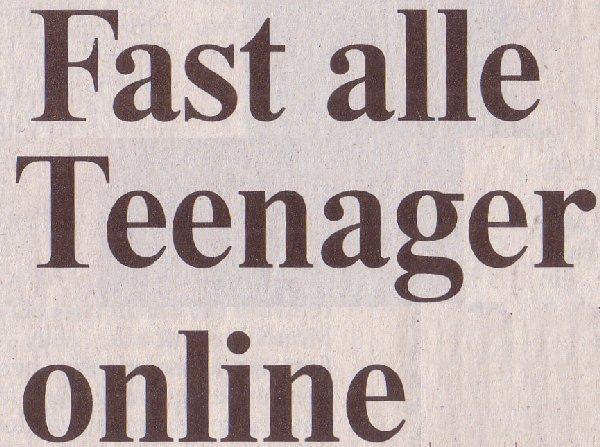 Rheinische Post, 27.01.11, Titel: Fast alle Teenager online