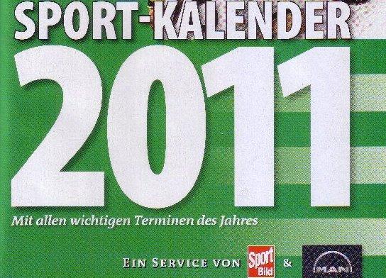 Deckblatt-Ausschnitt des Sportbild-Jahreskalenders 2011