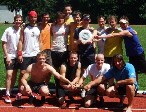 ASV-Frisbeewurf vs. -Sprintstaffel aus dem Jahr 2008