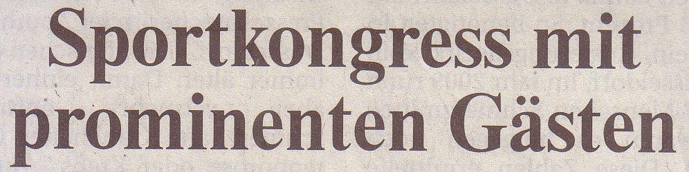Rheinische Post, 01.02.2011, Titel: Sportkongress mit prominenten Gästen