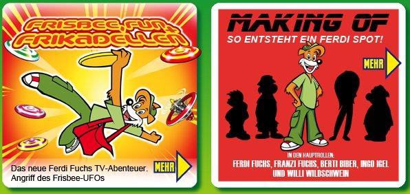 Screenshot der Frisbee-Fun-Seiten auf www.ferdi-fuchs.de