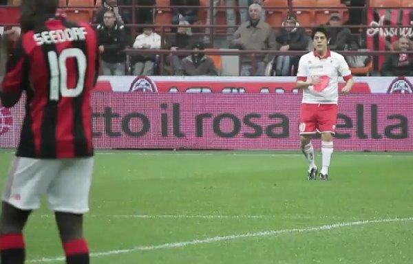 Einstellung des Videoclips der Gazetta dello sport aus Youtube