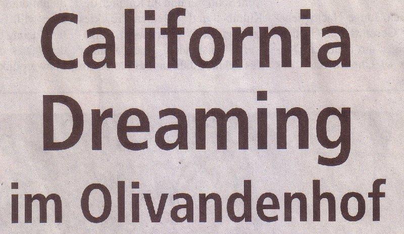 Kölner Stadt-Anzeiger, 10.03.11, Anzeigen-Titel: California Dreaming im Olivandenhof