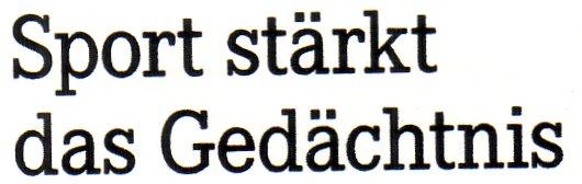 Apotheken-Umschau, 15.04.11, Titel: Sport stärkt das Gedächtnis