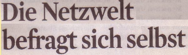 Kölner Stadt-Anzeiger, 13.04.2011, Totel: Die Netzwelt befragt sich selbst
