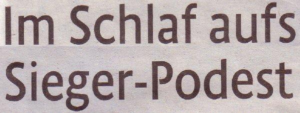 Kölner Stadt-Anzeiger, 07.05.2011, Titel: Im Schlaf aufs Sieger-Podest