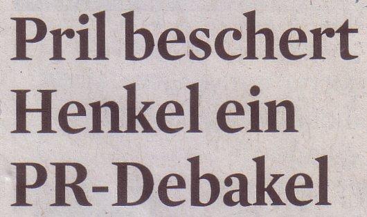Kölner Stadt-Anzeiger, 21.05.2011, Titel: Pril beschert Henkel ein PR-Debakel