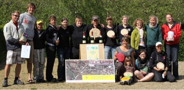 Schlussbild des 4. Ladies Cup der Disc Golferinnen im Volkspark Potsdam
