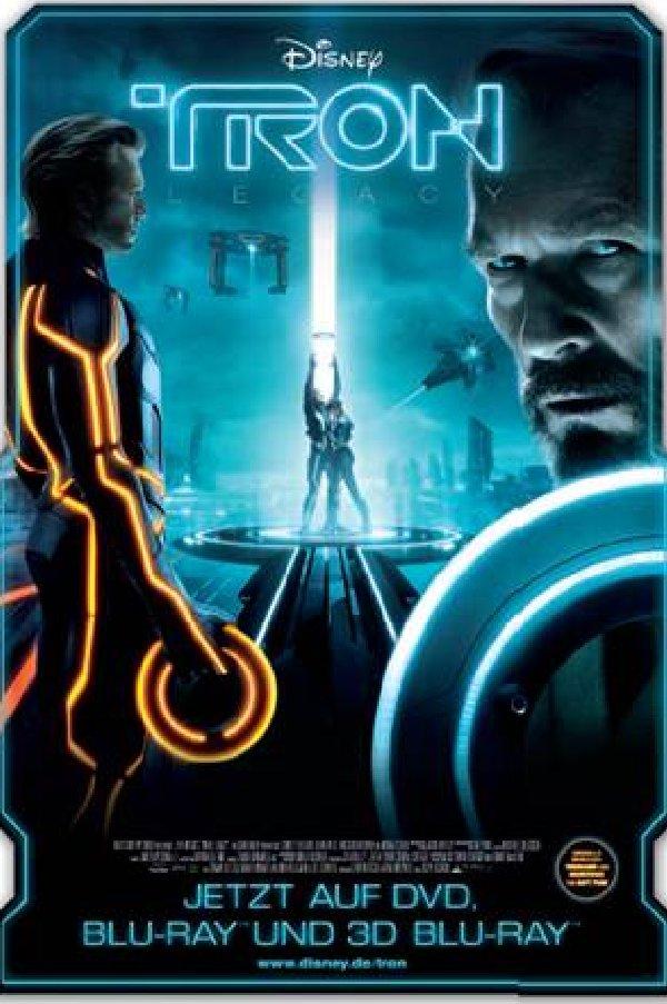 """Offizielles Disney-Werbemotiv zur Release der DVD und Blu-Ray von """"TRON: Legacy"""""""