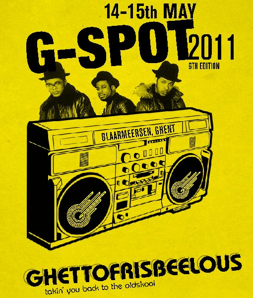 "Plakatmotiv für das Mixed Ultimate-Turnier ""G-Spot 2011"" in Gent"