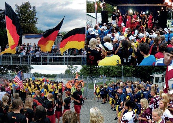 Die Doppelseite 24-25 des DFV-Jahrbuchs 2010 mit Impressionen von Junioren-WM/U17-EM in Heilbronn