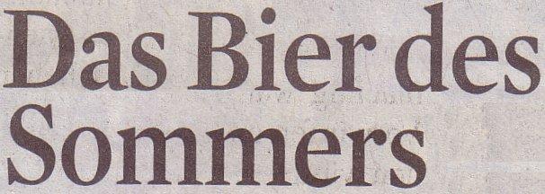 Kölner Stadt-Anzeiger, 30.06.2011, Titel: Das Bier des Sommers