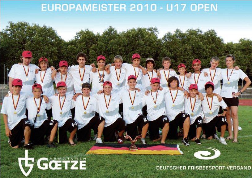 Die Rückseite des DFV-Jahrbuchs 2010 mit dem deutschen U17 Nationalteam: Europameister!