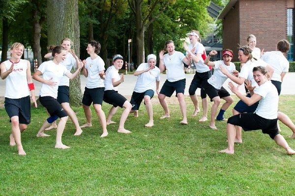 """Die Hamburgerinnen der """"Seagulls"""" zeigten sich kämpferisch und wurden Vizemeisterinnen der 5. DDC. Foto: Müller-Laschet"""