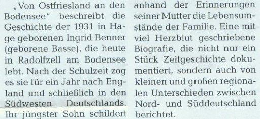 Ostfriesland-Magazin 06-2011, S.110, Neue Bücher, Besprechung