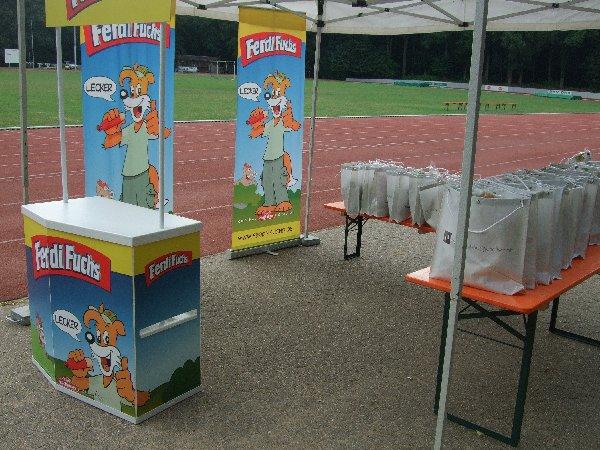 """Der Begrüßungscounter beim """"Ferdis Frisbee Fun Park"""" in Köln"""