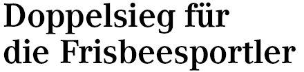 Kölner Wochenspiegel, 29.06.2011: Doppelsieg für Kölner Frisbeesportler