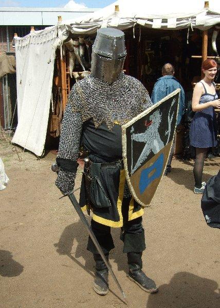 Ein Ritter auf dem Spectaculum am Fühlinger See