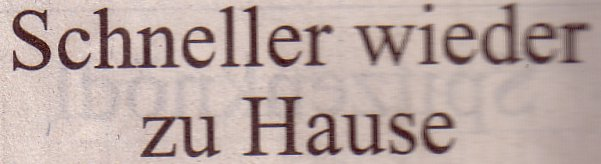 Süddeustche Zeitung, 27.08.2011, Titel: Schneller wieder zu Hause