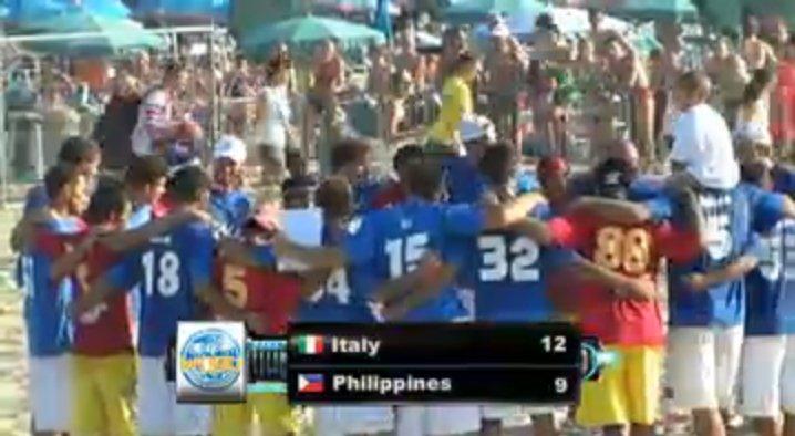 Screenshot der Live-Übertragung des Eröffnungsspiels der WCBU 2011 beim Endstand