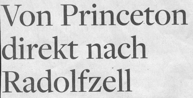 WamS, 18.09.11, Titel: Von Princeton nach Radolfzell