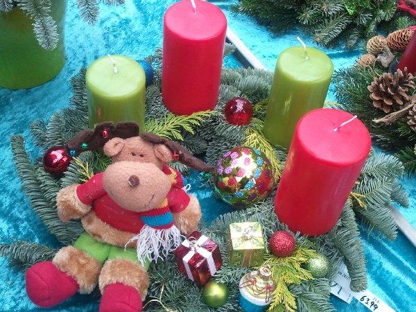 Bärchen-Adventskranz bei Dinger's Gartencenter