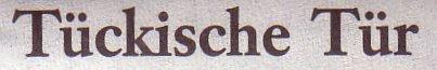 Frankfurter Allgemeine Sonntagszeitung, 20.11.11: Tückische Tür
