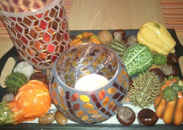 Herbst-Tischdeko