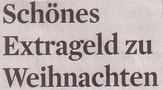 Kölner Stadt-Anzeiger, 04.11.2011: Schönes Extrageld zu Weihnachten