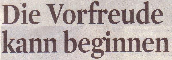 Kölner Stadt-Anzeiger, 18.11.2011, Titel: Die Vorfreude kann beginnen