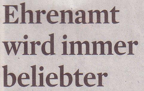 Kölner Stadt-Anzeiger, 24.12.11, Titel: Ehrenamt wird immer beliebter