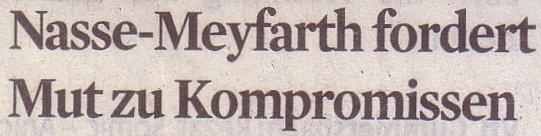 Kölner Stadt-Anzeiger, 27.12.11, Nasse-Meyfahrt fordert Mut zu Kompromissen