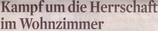 Kölner Stadt-Anzeiger, 30.12.11, Kampf um die Herrrschaft im Wohnzimmer