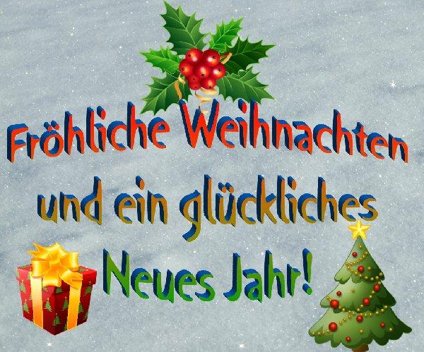 Weihnachts- udn Neujahrsgruß