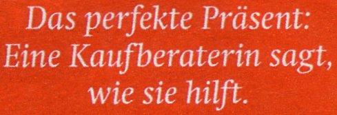 doppio Dezemberheft, Interview-Ankündigung auf der Titelseite: Das perfekte Präsent