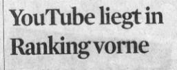 Kölner Stadt-Anzeiger, 29.12.2011, Youtube liegt im Ranking vorn