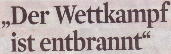 Kölner Stadt-Anzeiger, 16.02.2012, Der Wettkampf ist entbrannt