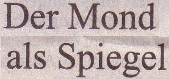 Süddeutsche Zeitung, 01.03.12, Der Mond als Spiegel