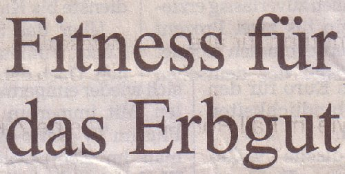 Süddeutsche Zeitung, 07.03.12, Titel:  Fitness für das Erbgut