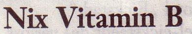 Frankfurter Allgemeine Sonntagszeitung, 08.04.2012: Nix Vitamin B