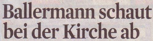 Kölner Stadt-Anzeiger, 04.04.2012, Ballermann schaut bei der Kirche ab