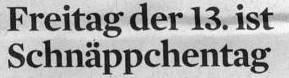 Kölner Stadt-Anzeiger, 12.04.12: Freitag der13. ist Schnäppchentag