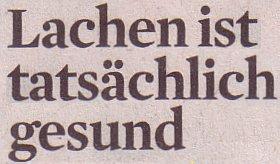 Kölner Stadt-Anzeiger, 07.05.12: Lachen ist tatsächlich gesund