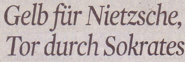 Kölner Stadt-Anzeiger, 20.06.12: Gelb für Nietzsche, Tor durch Sokrates