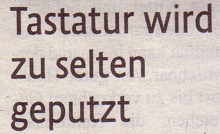 Kölner Stadt-Anzeiger, 20.06.12: Tastatur wird zu selten geputzt